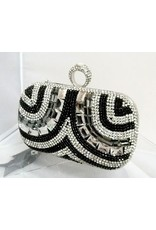 40230044 - Black Silver Clutch Bag