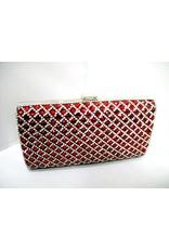 40240012 - Red Silver Clutch Bag