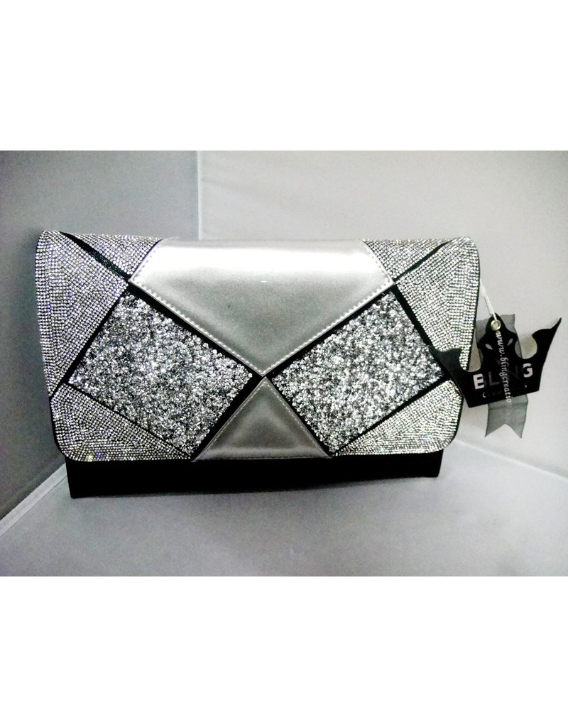 40240023 - Black Silver Clutch Bag
