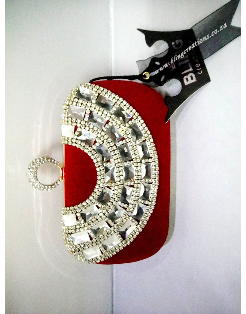 40240028 - Red Silver Clutch Bag