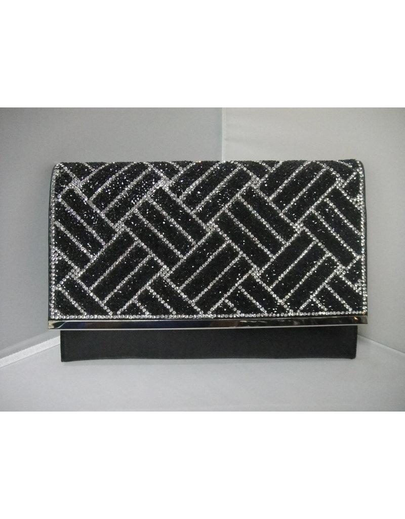 40240035 - Black Silver Clutch Bag