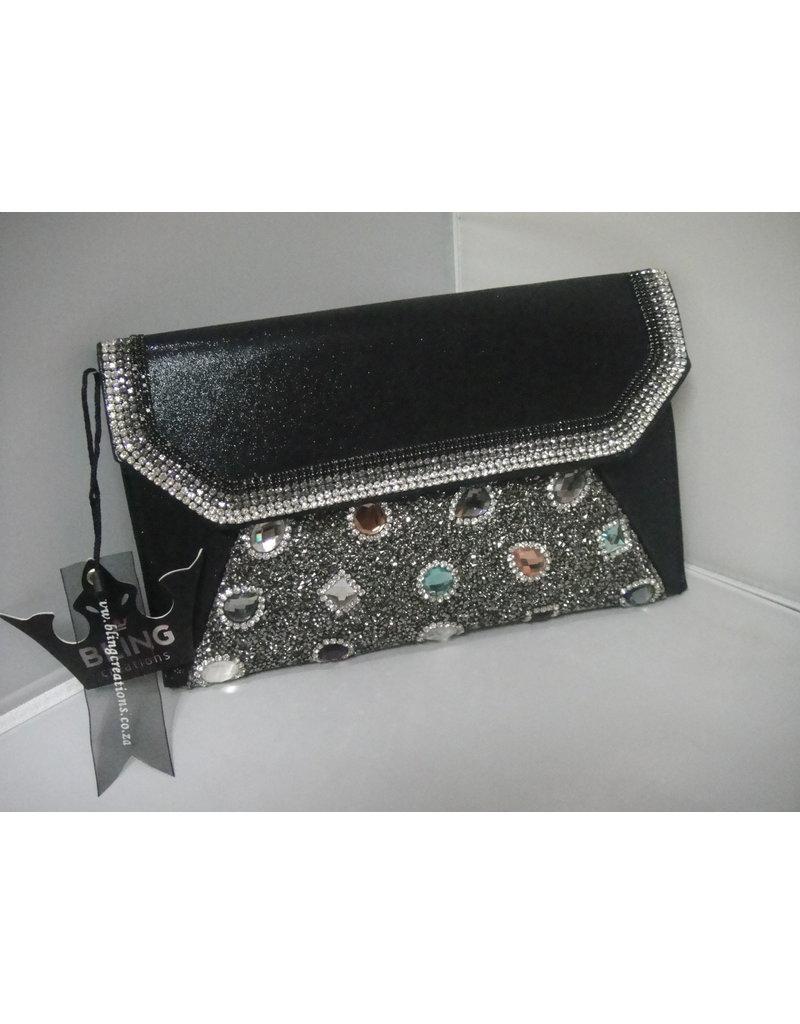 40240044 - Black Multicolour Clutch Bag