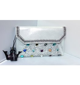 40240045 - Silver Multicolour Clutch Bag