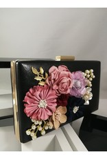 40241013 - Black Flower Clutch Bag