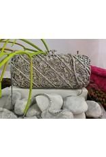 40241130 - Silver Premium Clutch Bag