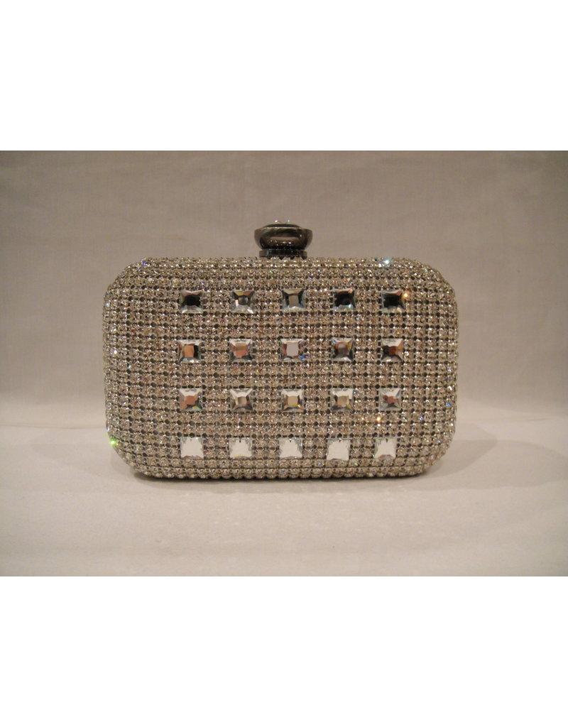 4020002 - Silver  Clutch Bag