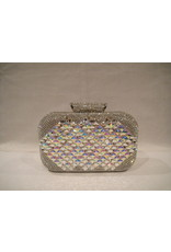 4020028 - Silver Mother Of Pearl Clutch Bag