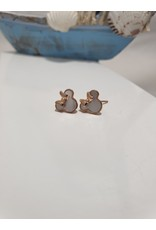 Ere0005 - Mickey Mouse Rose Gold  Earring