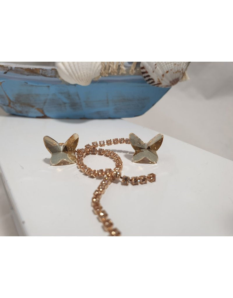 Ere0009 - Butterfly With Drop  Earring