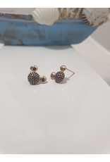 Ere0013 - Mickey Mouse Rose Gold  Earring