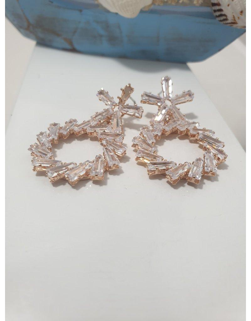 Ere0017 - Rose Gold -  Earring