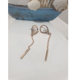 Ere0021 - Oval With Chain  Earring