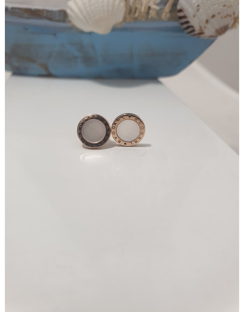 Ere0022 - Circle Rose Gold  Earring