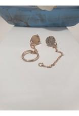 Ere0027 -  Rose Gold Rose Gold Earring