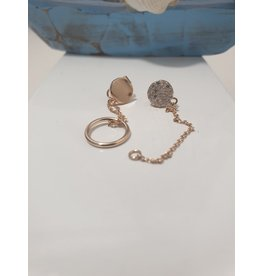 Ere0027 -  Rose Gold Rose Gold Earring