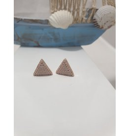 Ere0030 - Triangle Rose Gold Rose Gold Earring
