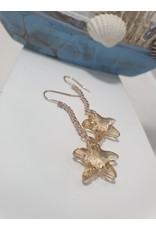 Ere0031 - Drop With Star Rose Gold  Earring