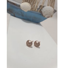Ere0033 - Round Rose Gold  Earring