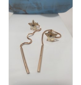 Ere0034 - Star With Chain  Earring