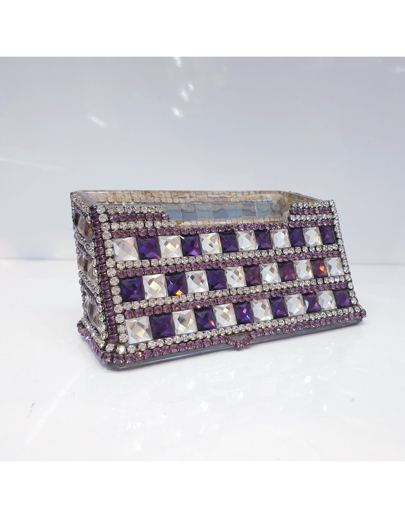 60220028 - Purple and Silver Card Holder