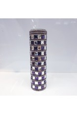 60220035 - Purple and Silver Stone Vase