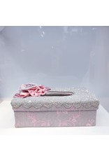 60250221 - Pink Patterned Bin and Tissue Box