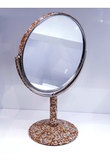 60250701 - Gold Double sided Rounded Mirror