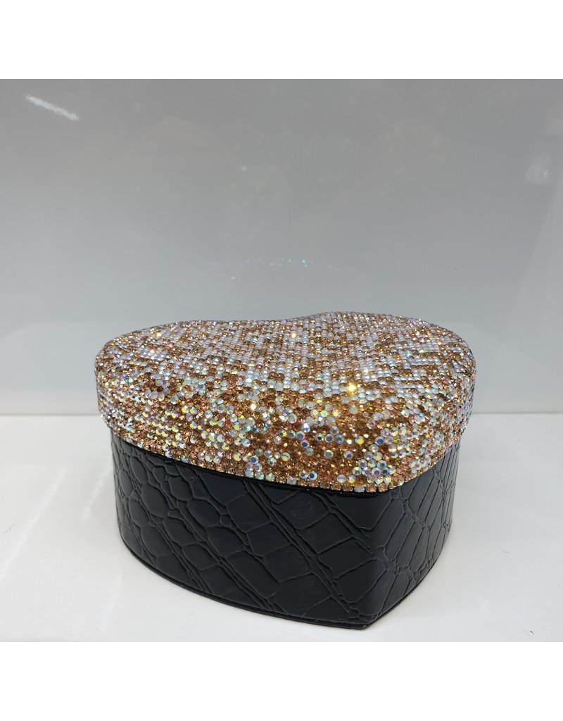 60260014 - Gold Heart Jewellery Box