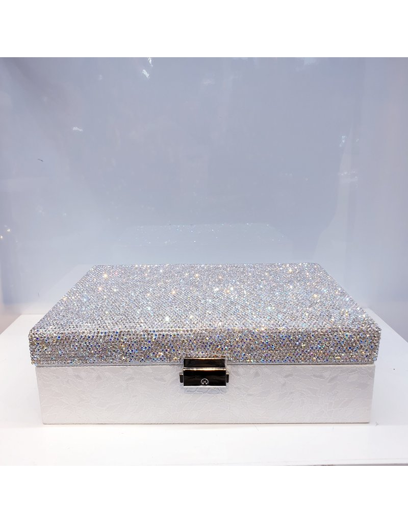 60262078 - Jewellery Box Silver and white
