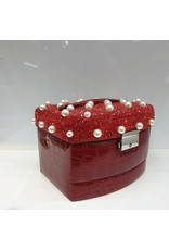 60262079 - Red with pearls 3 layer Jewellery Box