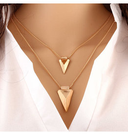 lcb0002 - Gold Multi Layer Necklace