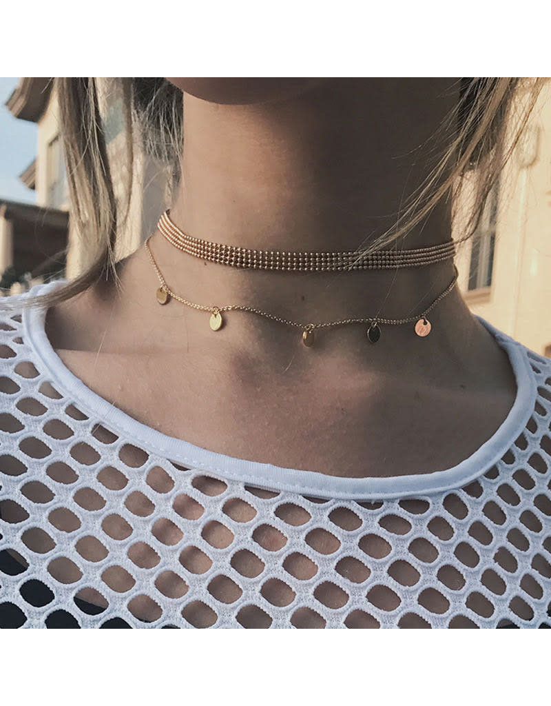 lcb0006 - Gold Multi Layer Necklace