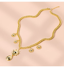 lcb0023 - Gold Multi Layer Necklace