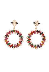 ERG0001 -  Gold, Pearl, Multicolour Earring