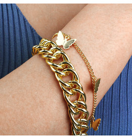 BSA0001 -  Gold, Butterfly Bracelet