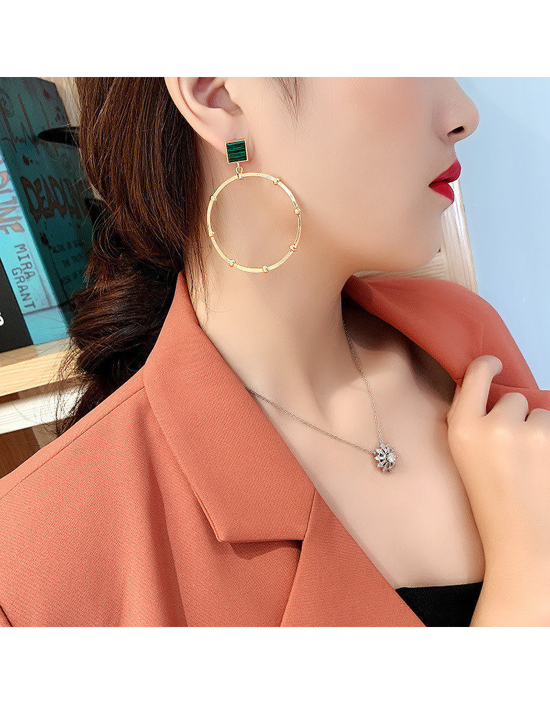 ERG0017 -  Gold, Emerald Earring