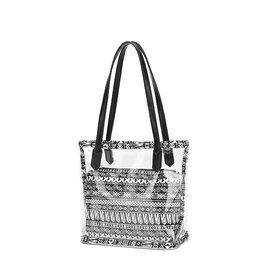 Black, White, Transparent Handbag