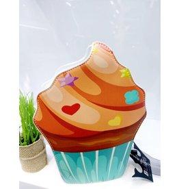 NCA0004 -  Blue, Orange, Cupcake Novelty Clutch