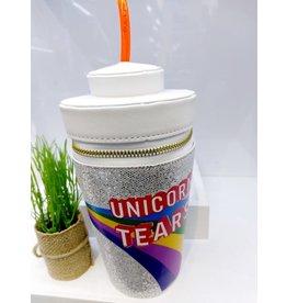 NCA0009 -  Silver, Unicorn Tears Novelty Clutch