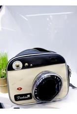 NCA0015 -  Black, White, Camera Novelty Clutch