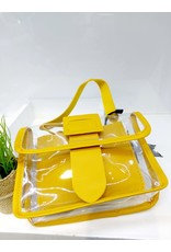 NCA0021 -  Yellow, Transparent, Mini  Novelty Clutch
