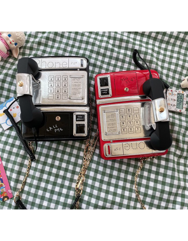 Red Phone Novelty Clutch