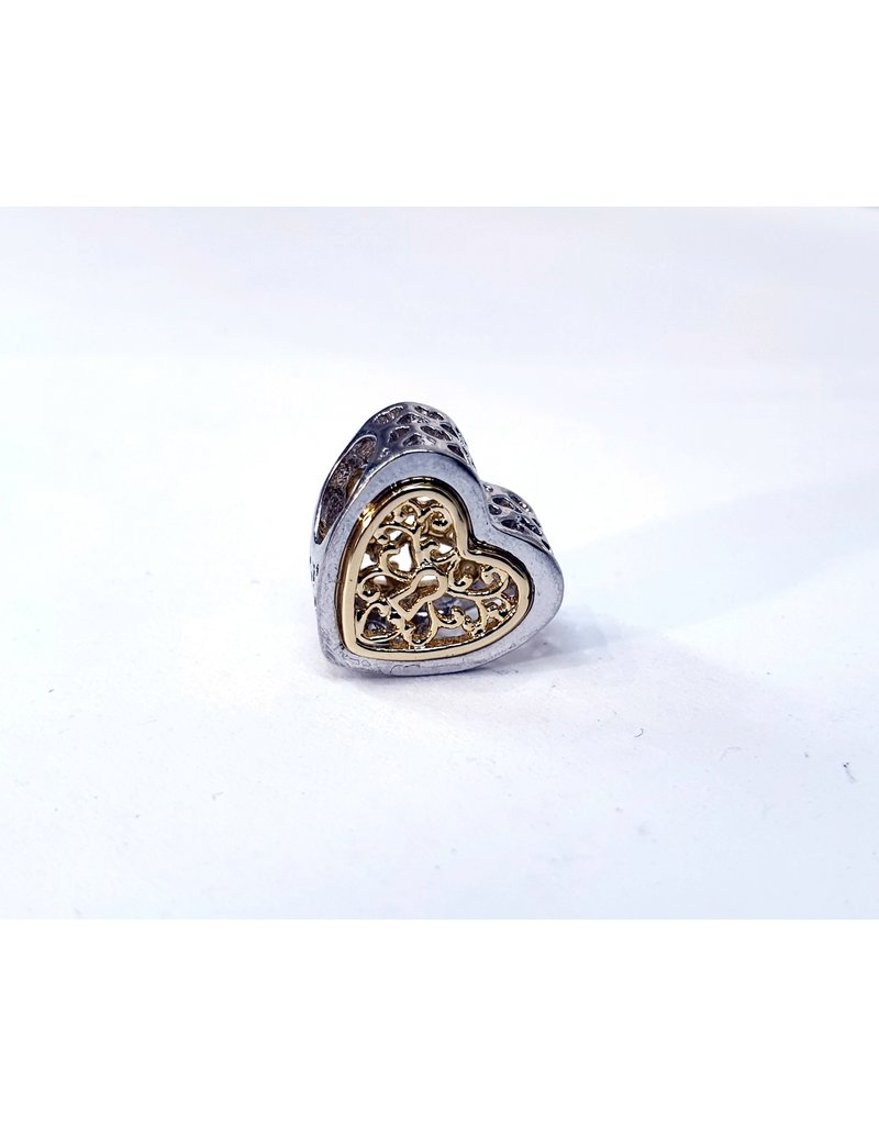 50311820 - Gold and Silver Heart Charm
