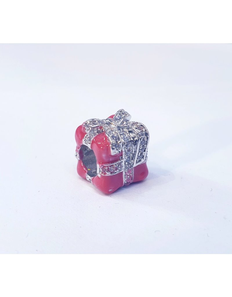 50311845 - Pink and Silver Gift box Charm