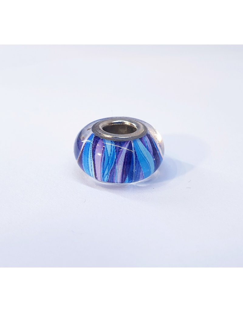 50313443 - Blue Patterned Ring Charm