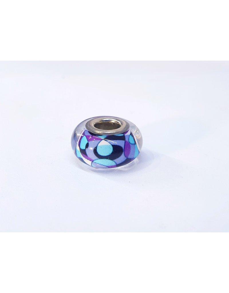 50313446 - Purple and Blue Pattern Charm