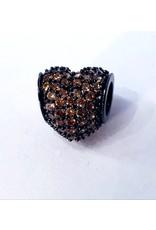 50313449 - Brown Heart Charm