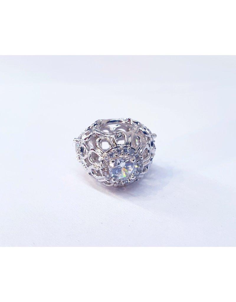 50313465 - Silver Flower Net Charm