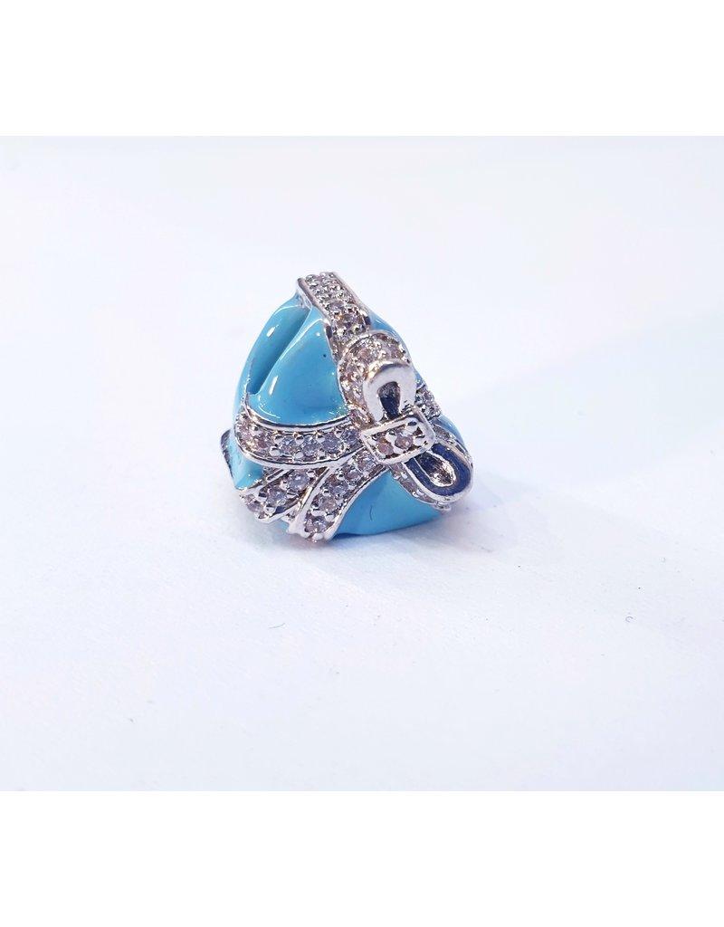 50313466 - Blue Heart Gift Charm