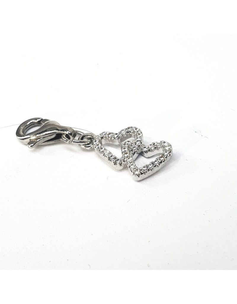 50313472 - Silver Double Heart Charm